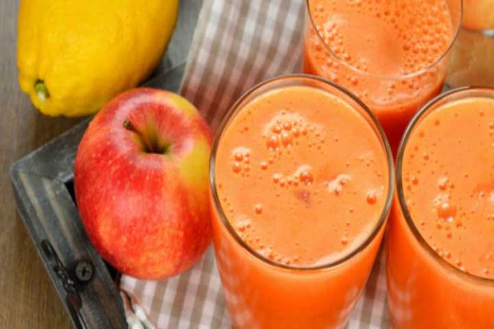 Carrot And Apple Smoothie For Your Cutie