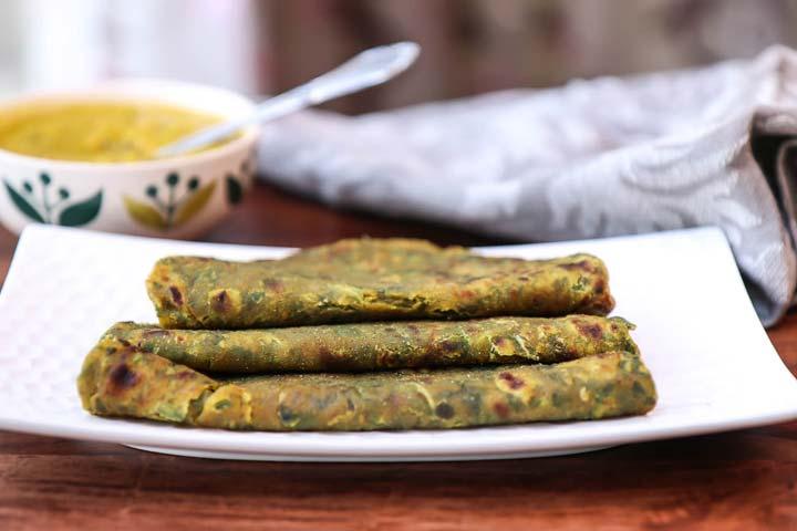 Healthy Aloo Palak Paratha