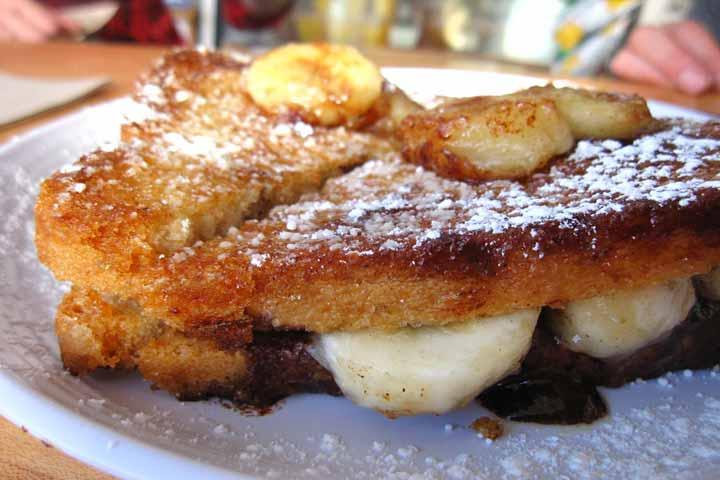 Yummy breakfast- Banana Sandwich