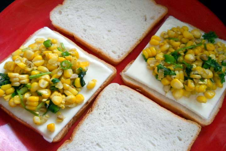Yummy Sweet Corn Toast