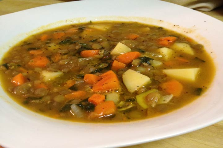 Health In A Bowl-Dal And Veggie Soup