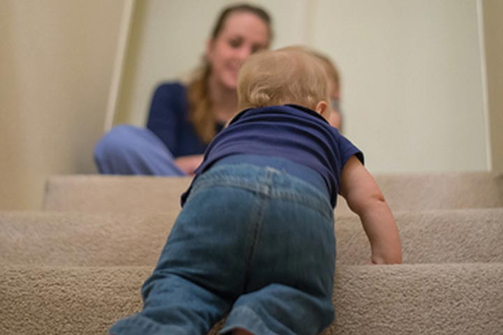 Your Child is Getting Ready to Use The Stairs Now