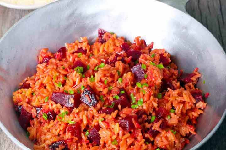 Colorful And Tasty Beetroot Rice