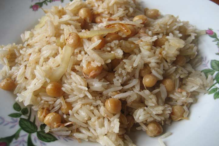 Brain Booster Brown Chick Peas Spinach Rice