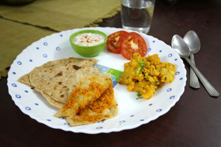 Colorful Carrot Coriander Chapati