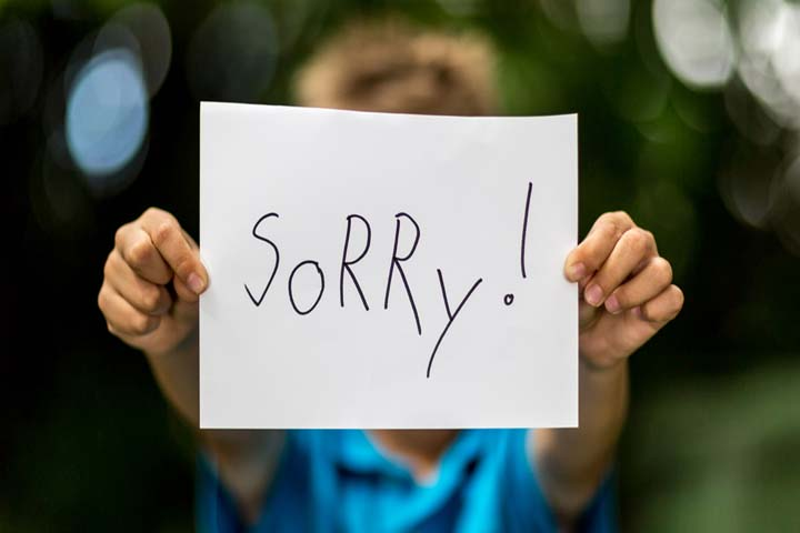 """""""Sorry"""" May Not Come Naturally To Your Child"""