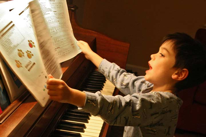 Your Child's Motor Progress Can Soar High With Piano or Guitar Lessons