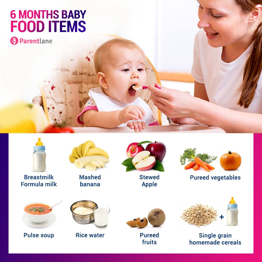 food items 6 months