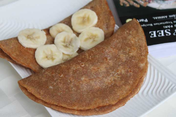 Banana Wheat Dosa