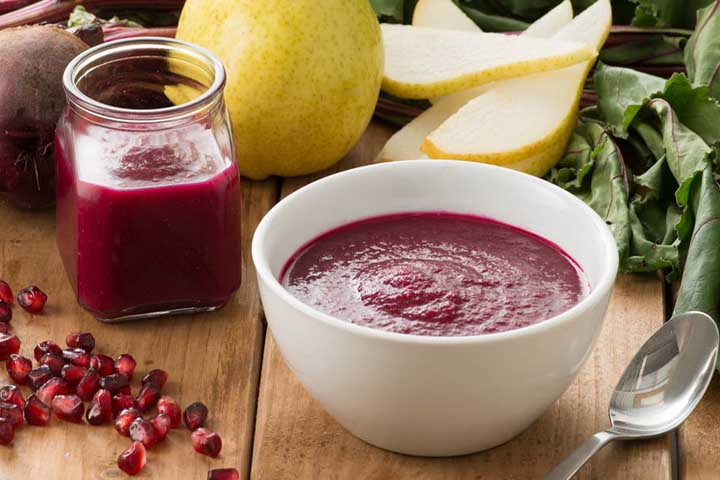 Beetroot and Pomegranate Puree