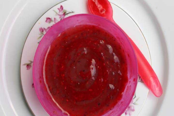 Blueberry, Pear, and Raspberry Swirl