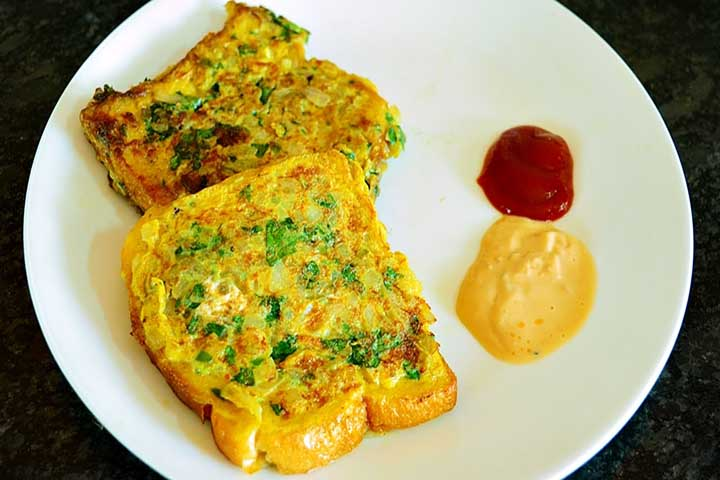 Nutritious and Healthy Bread Omlette