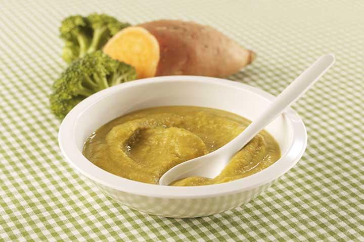 Broccoli and Sweet Potato Puree