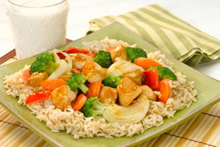 Brown Rice With Chicken & Veggies