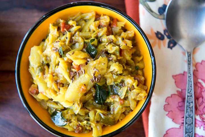 Cabbage Bhaji