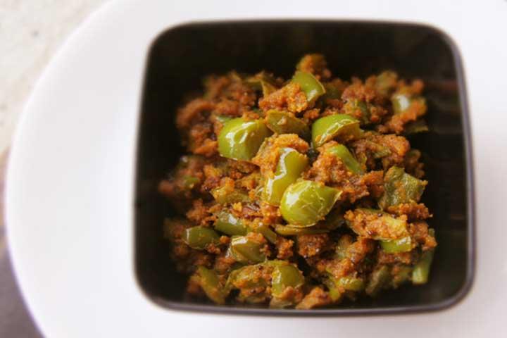 Spicy Capsicum Besan Sabji