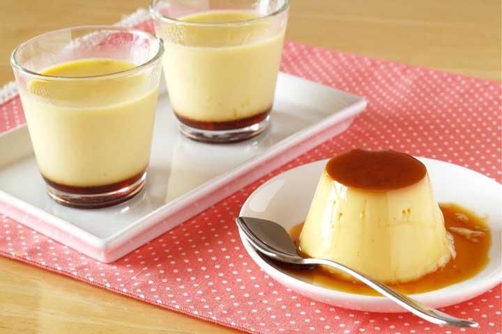 Eggless Caramel Bread Pudding