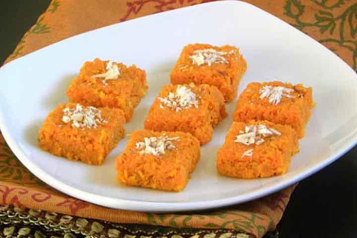 Yummy Carrot Burfi