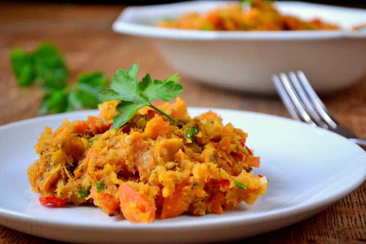 Carrot and Sweet potato mash