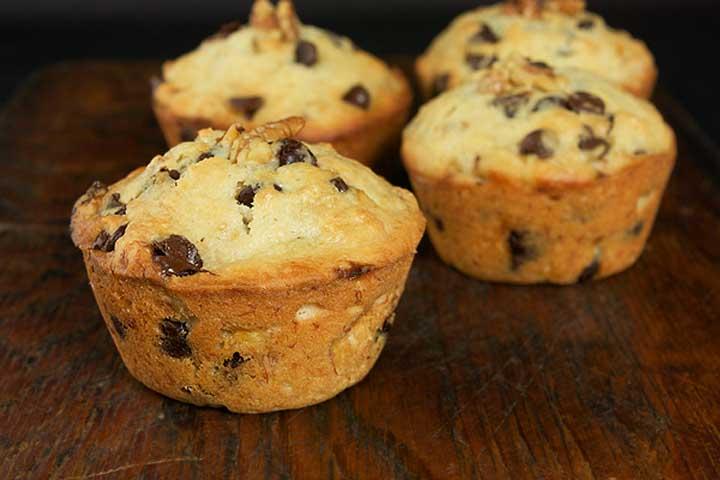 Eggless Chocolate Chip Muffin