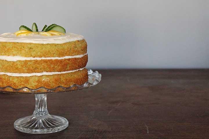 Eggless Cucumber Cake