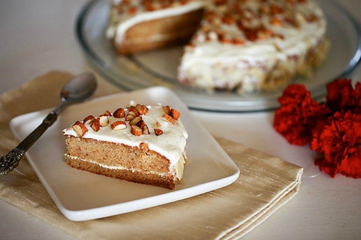 Eggless Almond Cake