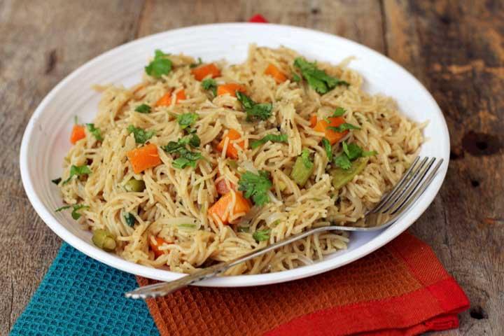 Flavorful Vermicelli Veggie Pulao