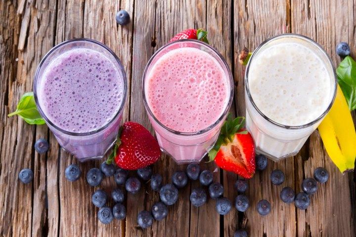 Tasty Fruit And Veggie Milkshake