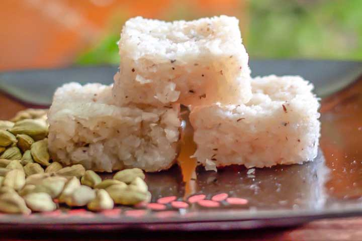 Lemon and Coconut Barfi