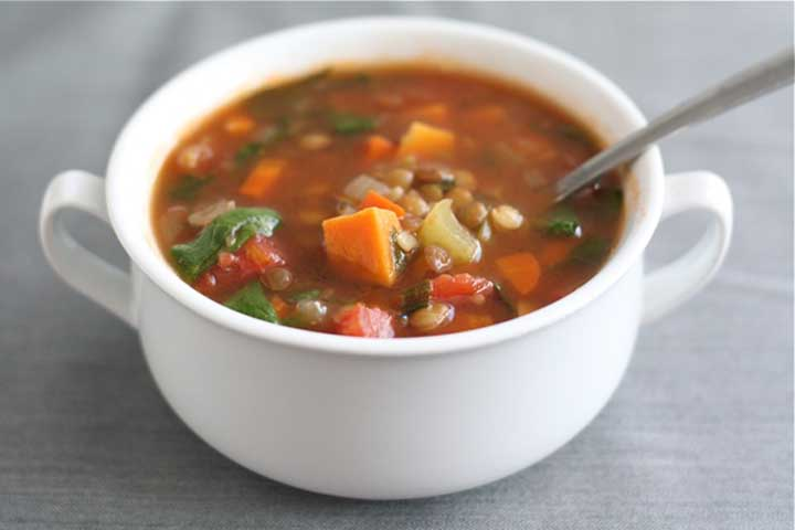 Lentil and Sweet Potato Soup