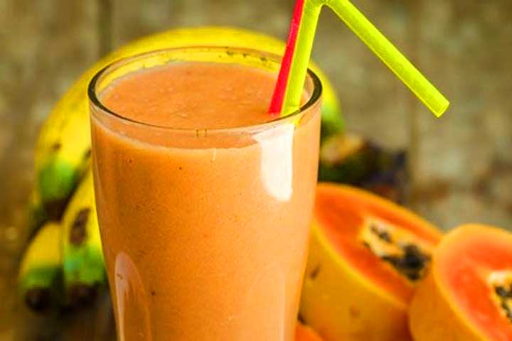Mango Papaya Banana Smoothie