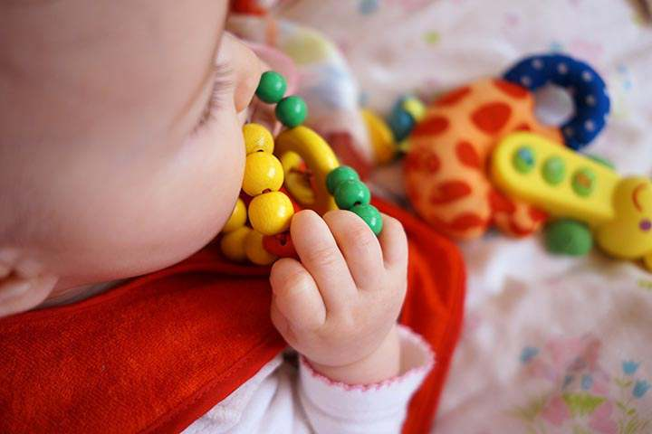 Your Child Is Likely To Pull Colorful Rings Out Of The Peg