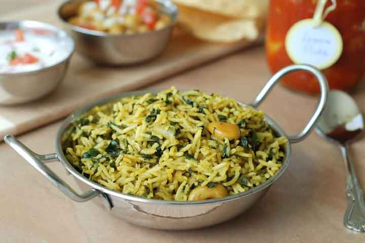 Healthy and Nutritious Palak Pulao