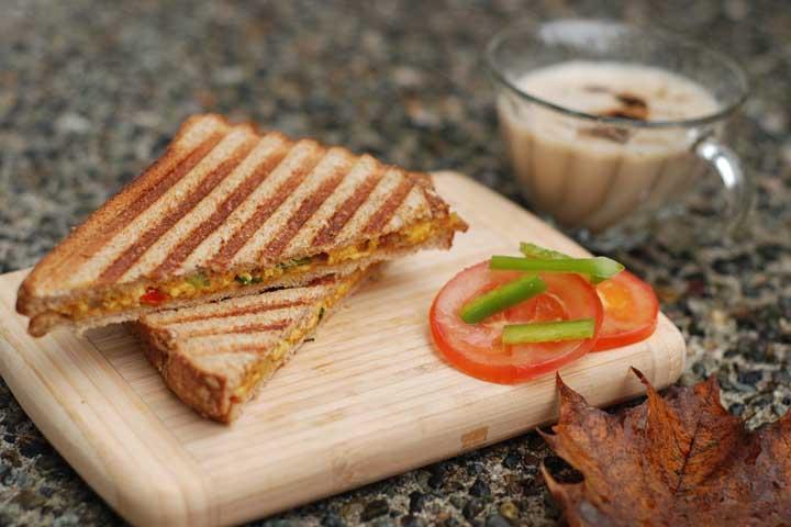 Paneer Cheese Bread Sandwich