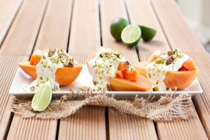 Yummy Fruity Twist -Papaya And Melon Swirl