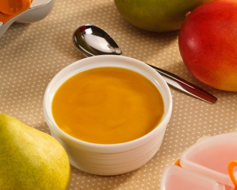 Peach and mango mash
