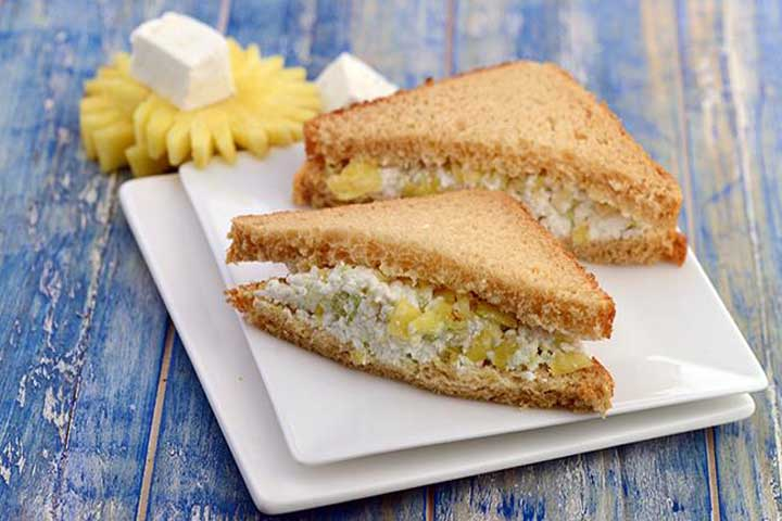 Pineapple & Cottage Cheese Sandwich