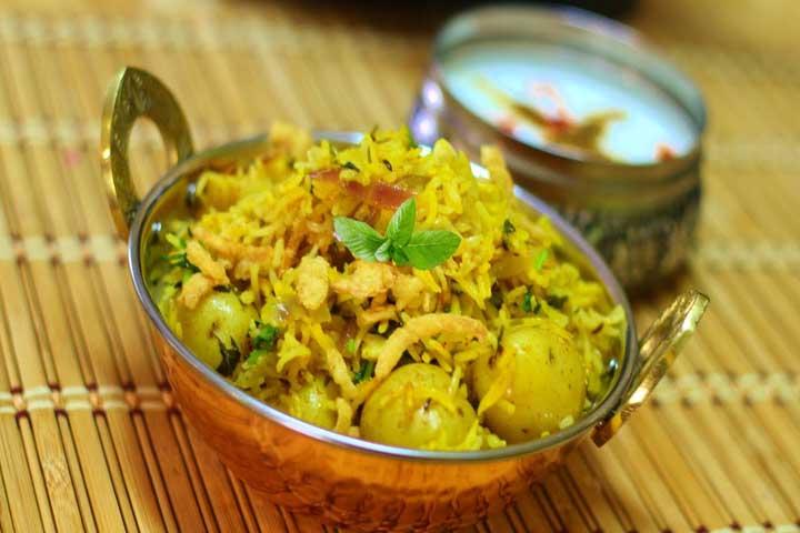 Baby Potato Biriyani