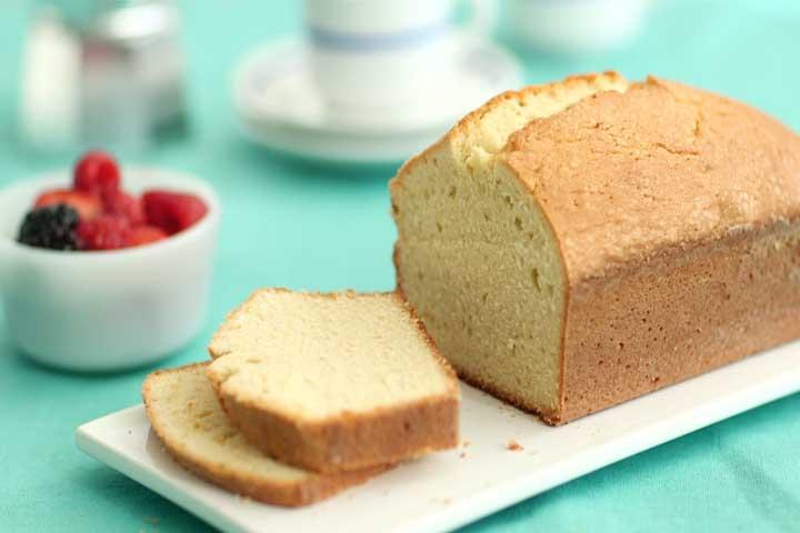 Eggless Pound Cake
