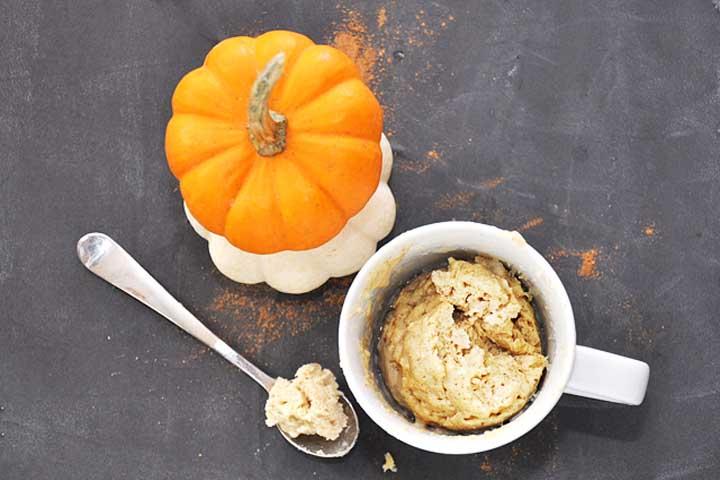 Easy Pumpkin Cake In A Mug