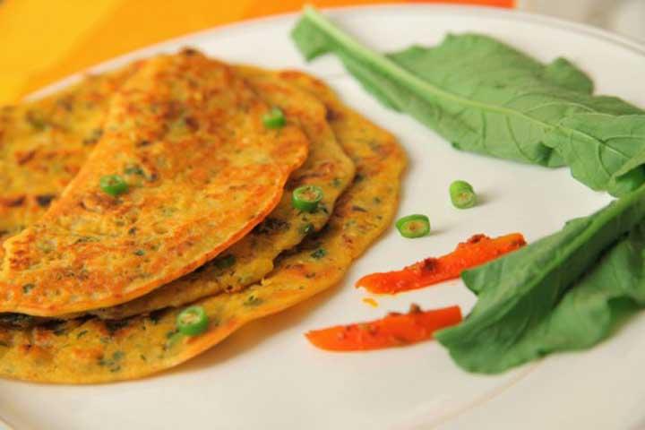 Delicious and Healthy Rava Chillas