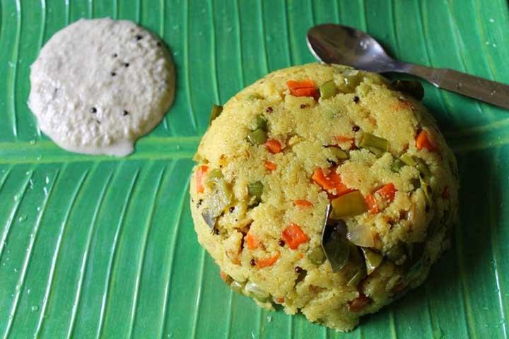 Suji Mixed Vegetable Khichdi