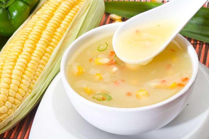 Sweet Corn Soup without Cornflour