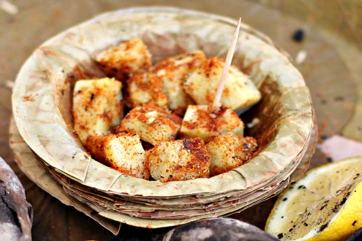 Hot and Spicy Sweet Potato Chat
