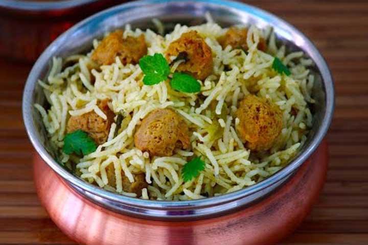 Tasty Soya Matar Pulav