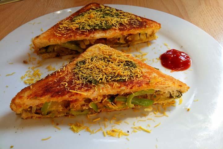 Veg Masala Toast Sandwich