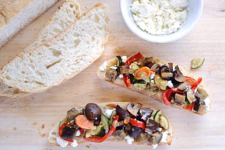 Yummy Vegetable Toasts