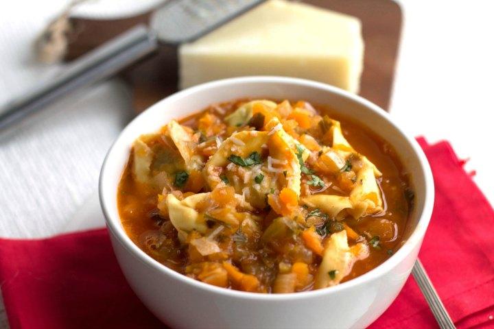 Vegetable Tortellini Soup