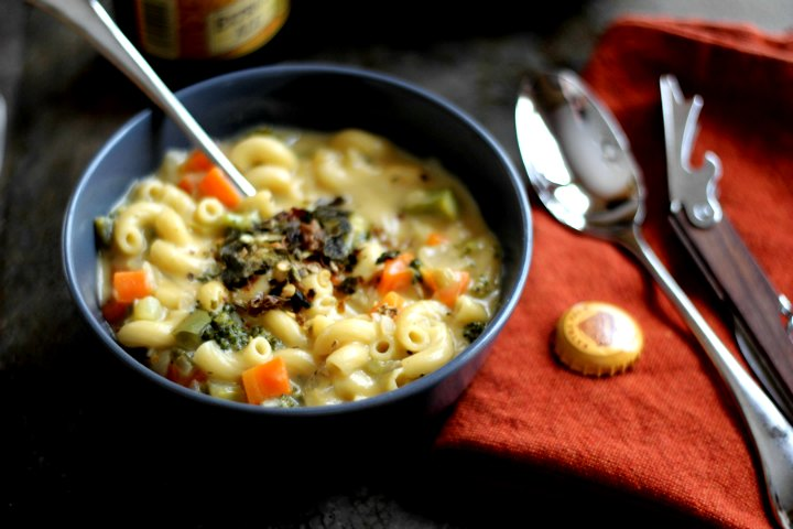 Veggie Mac and Cheese Soup