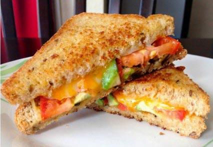 Veggies And Cheese Sandwich